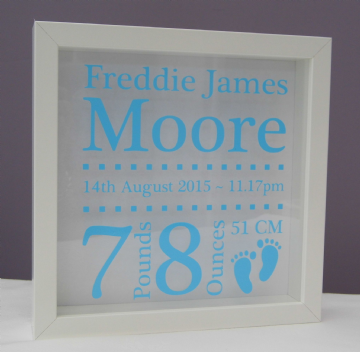 Personalised Baby Boy Frame